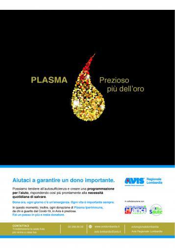 Campagna di sensibilizzazione alla donazione di plasma