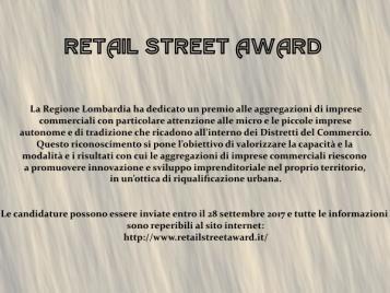 PREMIO RETAIL STREET AWARD