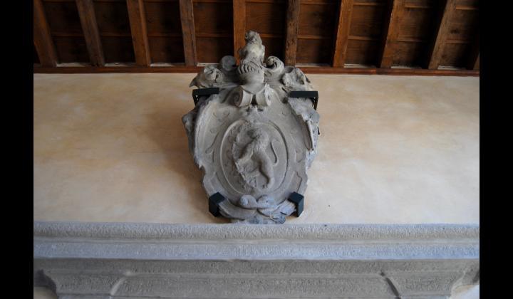 Leone di pietra - sala del pianoforte